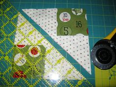 Happy Quilting: Flying Geese - The No Waste Method