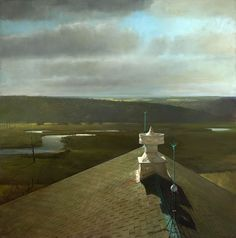 Ventilator on Darlinton's Barn  Oil Painting  57x57in  2009  Randall Exon