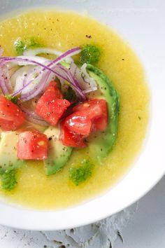 Yellow Tomato Gazpacho