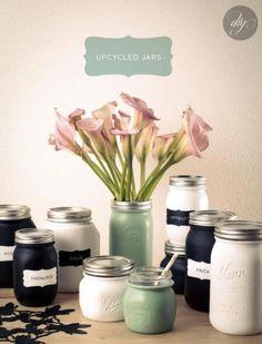 Paint your old mason jars.