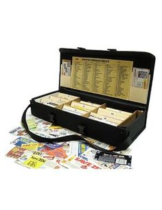 Pro Deluxe Coupon Organizer IV. Too expensive for a true bargain shopper, but a neat idea....