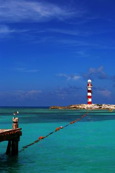 Lighthouse in Cancun, Mexico I book travel! Land or Sea!  http://www.getawaycruiseplanner.com
