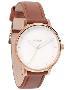 kensington leather watch / nixon