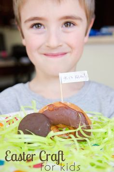 Religious Easter Craft for Kids - donut tomb. Easy and yummy!
