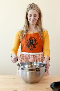 Halloween Spider Apron. Make It Now in Cricut Design Space