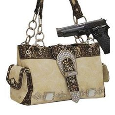 Cleto Ivory Western Buckle Conceal and Carry Purse : Conceal and Carry Purses On Sale 49.99 Free Shipping