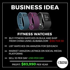 Here's an idea for those of you looking to start an eCommerce store; fitness watches. They're cheap when purchased in bulk, easy to ship, and the demand is huge in western countries. A good marketing campaign is key to making this one work. Perhaps build up a fitness based Instagram page? Check out my guide to growing your IG if you're keen on giving this a shot😊 #entrepreneur #makemoney #money #business #businessideas #startup #makemoneyonline #ecommerce #marketing #onlineshop #fit #exercise
