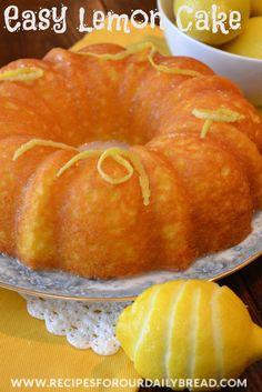 easi lemon, lemon cakes, cookbook, lemonad cake, cake mixes