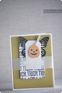 Trick or Treat stamp set and Die-namics, Spooky Sentiments, Fancy Butterflies Die-namics, Pierced Traditional Tag STAX Die-namics - Keisha Campbell #mftstamps