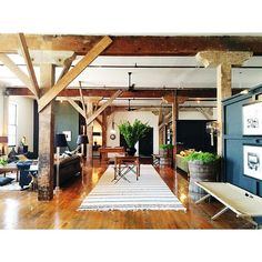 exposed beams, barn loft, loft spaces, wood beams