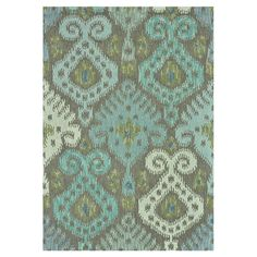 Hand-hooked wool rug with an ikat motif.  Product: RugConstruction Material: 100% WoolColor: Grey and...
