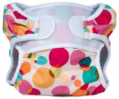 Planet Bambini  - Swimmi, $14.50 (http://www.planetbambini.com/swimmi/)    I've bought a few of each size of these for my kids and they work excellent. Unlike using a diaper cover these don't get huge and saggy once they get in the water. Sizing runs a bit big but they work perfect and last forever!