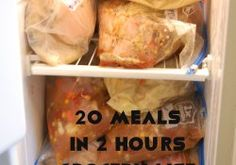 20 meals freezer cooking grocery list