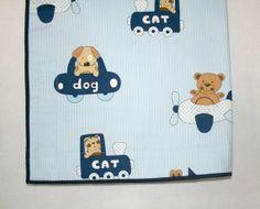 Baby Boy Quilt Blue Nursery Bedding Boy Crib by LittleCottonShop, €55.00