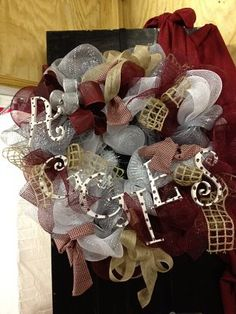 Aggie Wreath #Twisted Willow Florist Sealy, Texas