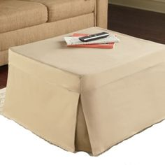 Kings Brand Folding Ottoman Guest Bed Sleeper With Mattress & Beige Fabric Cover #KingsBrandFurniture