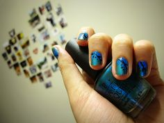 This is how i do ombre; OPI turquoise style ❥