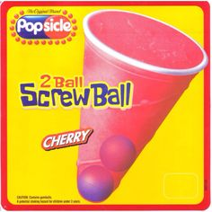Two ball screwball! Like an icee with two bubble gum balls in the bottom.