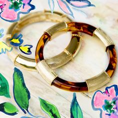 Lilly Pulitzer Tortoise Shell Bangle Set- gift with purchase until Oct 13