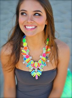 Neon necklace.  Love bright colors!