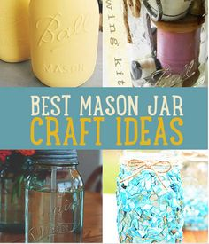 Decorate your home with mason jars