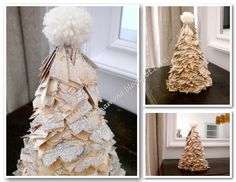 Diary of a Creamamma: Roll paper + book + = glitter Christmas tree!