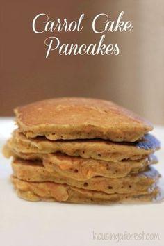 carrot cake pancakes ~ yummy fall recipe