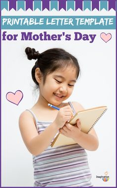 giving this to my husband to do w/ kids - (FREE) Printable Mother's Day Letter Template
