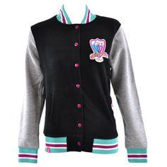 Flip Flop And Fangs Bad Bunnies College Jacket (Black)