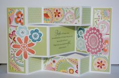 Triple fold card using CTMH Chantilly paper.