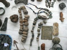 Old clay beads....!!!!!!!!!!!