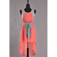 highlow dress, chiffon dresses