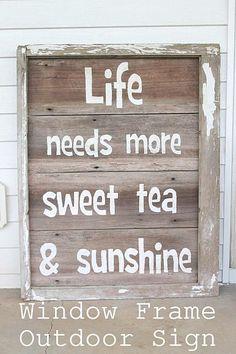 sweet tea sign, sunshine and sweet tea