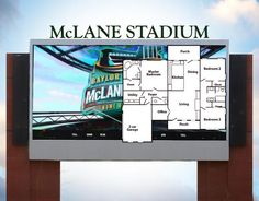 How big is McLane Stadium's new videoboard? Compare with the floor plan for a 3-BR, 2.5-BA, 2,000-sq-ft house. #SicEm
