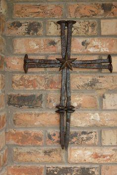 Railroad Spike Cross With Star by TheRustyMonkey on Etsy, $35.00