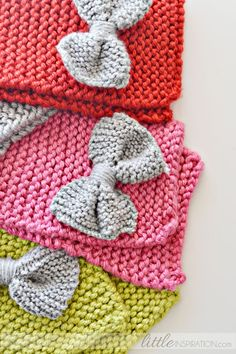 How To Knit A Bow Scarf » Little Inspiration  For granddaughter who loves bow ties