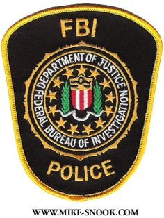FBI Police Badge http://www.mike-snook.com/patches/ZOthers.html