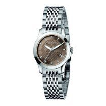 Gucci Women's YA126503 Gucci Timeless Brown Dial Stainless-Steel Bracelet Watch