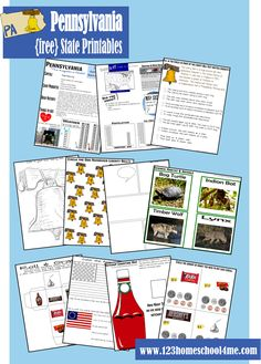 FREE Pennsylvania Worksheets for Toddler, Preschool, Kindergarten, and Elementary Age