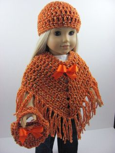 Free Knitting Pattern For Poncho For American Girl Doll : AMERICAN GIRL PONCHO CROCHET PATTERN Crochet Patterns Only