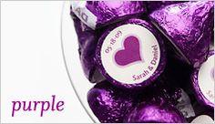 party favors, idea, wedding favors, weddings, purpl kiss, purple wedding, bridal shower, hershey kisses, parti