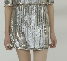 Silver sequins.