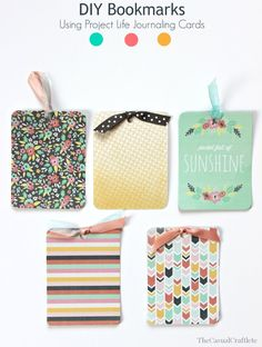 DIY Bookmarks Using Project Life Journaling Cards |www.thecasualcraftlete.com