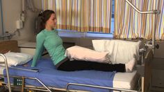 How to roll in bed after hip replacement surgery
