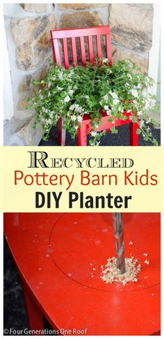 Our recycled DIY Planter @Mandy Bryant Bryant Dewey Generations One Roof