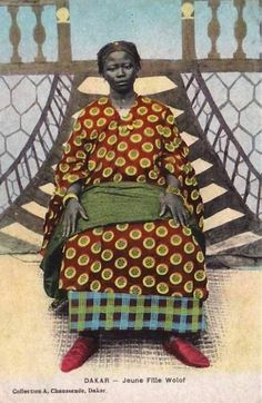 "Africa | ""Jeune Fille Wolof""  Dakar.  Dated 1921. 