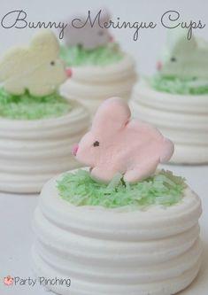 Bunny Meringue Cup tutorial using store-bought meringue cups - so easy!