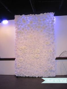 Amazing Endless Handmade Paper Flower Wedding Backdrop, would be gorgeous for ceremony backdrop. Made with tissue paper flowers hot glued to a sheet!!!!
