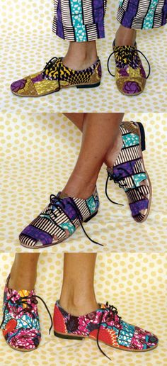 shoes, African Prints