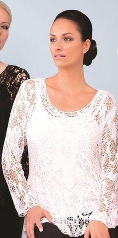 Joseph Ribkoff Lace White Top.  New Season | #fashion #josephribkoff